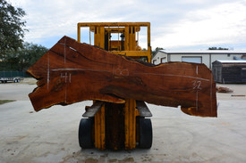 Mesquite  Live Edge Slab - TM305 - 100x37x2.75- Side 1
