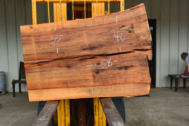 TX Pecan Live Edge Wood Slab - TXP0216 - 58x42x3 - Side 1