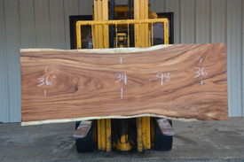 Monkey Pod (Cinicero) Live Edge Slab - J21196A - 98x35x3 - Side 1