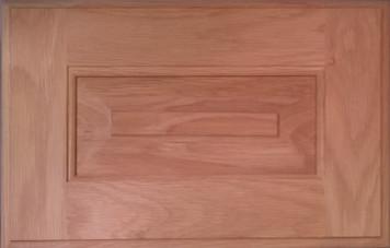 DTDF 1058HZF - Drawer Front Solid Wood - White Oak