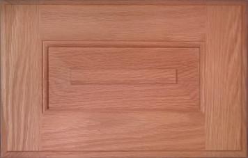 DTDF 1058HZF - Drawer Front Solid Wood - Red Oak