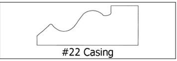 #22 Casing -¾ x 2 3/16 x 8'