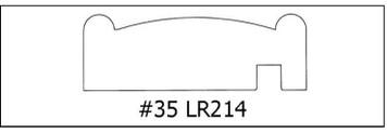 #35 LR214 -¾ x 2 1/4