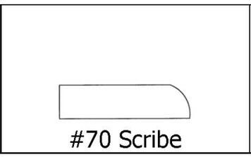 #70 Scribe 5/16 x 1 ¼ x 8'