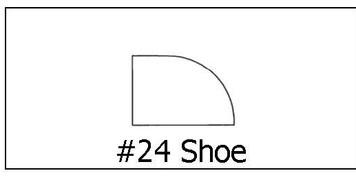 #24 Shoe ½ x ¾ x 8'