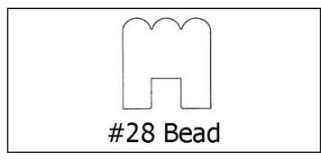#28 Bead - ¾ x 3/4