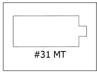 #31 MT - ¾ x 1 1/4
