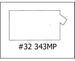 #32 343MP - 7/8 x 1 3/4