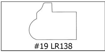 #19 LR138 - 1 1/16 x 1 3/8 x 8'