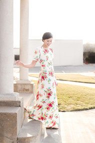 Floral Knit Simple Elegance Dress