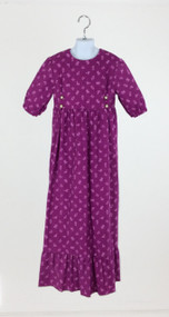 Purple Corduroy Dress with Ruffle