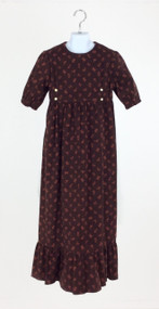 Brown Corduroy Dress with Ruffle