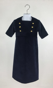 Navy Double Buttons Dress