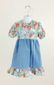 Girl's Roses and Denim Dress