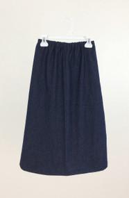 Girl's Deep Navy Denim Skirt