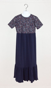 Navy Paisley Dress (Girl's)