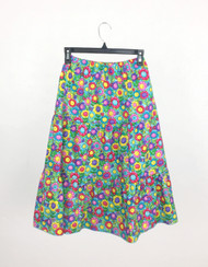 Girl's Smiling Flowers Skirt