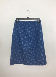 Ladies Hearts Denim Skirt