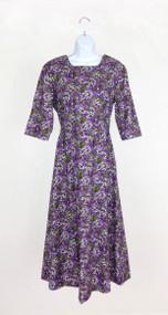 Ladies Simple Elegance in Purple Floral