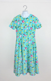 Girl's Blue Apple Dress