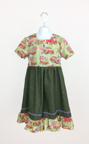 Girl's Vintage Flags Dress