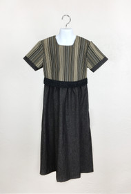 Girls' Denim Stripes Dress