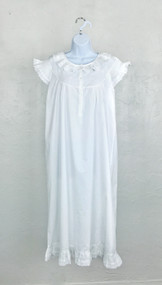 Ladies White Ruffled Nightgown
