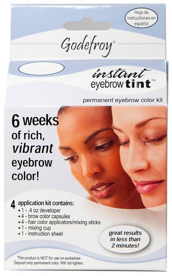 Godefroy Instant Eyebrow Tint Permanent Color Kit - Medium Brown ...