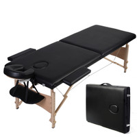 "84"" Folded Portable Salon Table Bed Spa With Carrying Case"