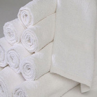1 Dozen White 16 x 27 100% Cotton Hand Towels for Salon Spa Gym