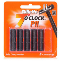Gillette 7 O'clock Pii Trac Ii Razor Blades Without Lube Strip
