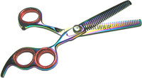 "6.5"" Professional Double Thinning Hair Shears Scissor 7TTH2B"