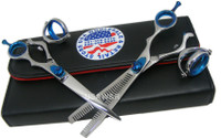 Double Swivel Hair Cutting & Thinning Shears Set