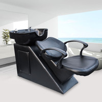 Salon Backwash Bowl Shampoo Barber Chair Sink Spa Equipment Station Unit