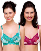 Organic Antimicrobial Laced Bra Combo ISB019A_ISB019B