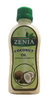 6.8oz Zenia Pure Coconut Oil for Hair, Skin, Body, Scalp and Hair Growth Natural