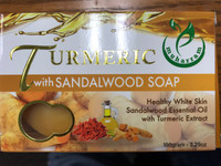 Turmeric and sandalwood soap