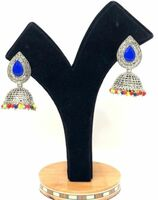Jhumka  Earrings  blue