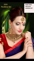 Indian Chocker Necklace Sets With Earrings Mang tikka