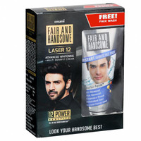 Emami Fair And Handsome LASER 12 Advanced Whitening Multi - Benefit Cream + Instant Fairness Face wash