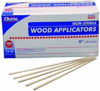 Dukal Non - Sterile Wood Applicators 6 inch, 1000 pieces