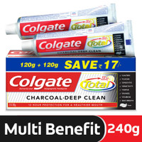 Colgate Total Charcoal Deep Clean, Anti-cavity Fluoride Toothpaste (2 x 120g) 2 pcs. per pack