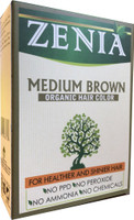 Zenia Medium Brown Organic Hair Color