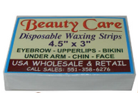 Beauty Care Disposable Waxing Strips 4.5''