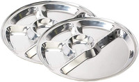 Rice Plate Thali 5 Compartment Stainless Steel