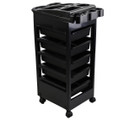 PRO-3010A Plastic 5-Drawer Workstation on Wheels