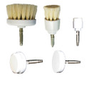 Set of 5 Ultra-Soft Natural Bristle Rotary Facial Brush Attachments