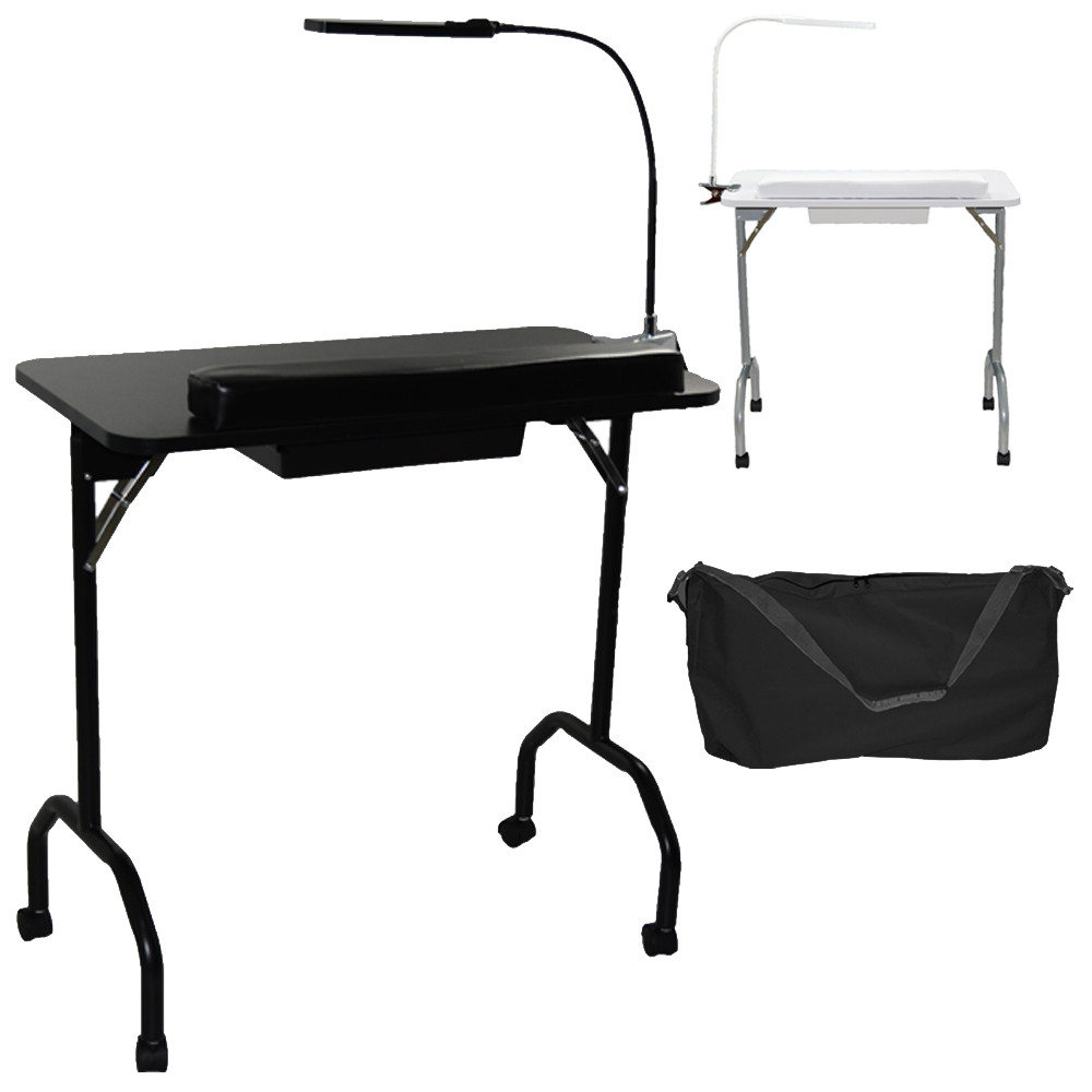 Pro 5103 Portable Manicure Table With Led Lamp Lcl Beauty