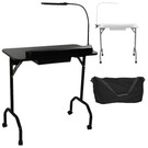 PRO-5103 Portable Manicure Table with LED Lamp