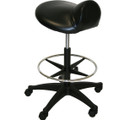 PRO-2903 Extra Large Deluxe Air-Lift Saddle Stool  with Adjustable Footrest